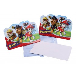8 invitations Pat Patrouille