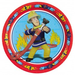 8 assiettes en carton Sam le Pompier