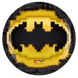 8 Assiettes en carton Lego Batman
