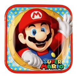 8 Assiettes en carton Super Mario