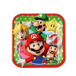8 assiettes à dessert Super Mario