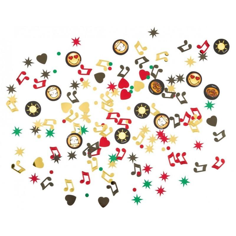 Confettis de table motifs Smiley emoji
