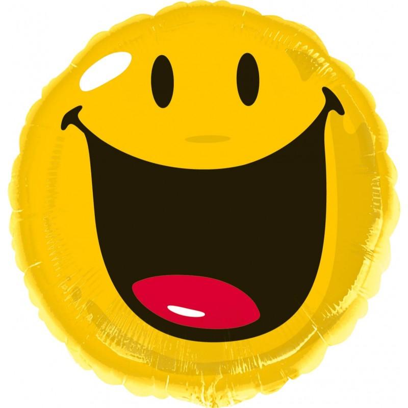 Ballon mylar  emoji qui rigole 43 cm