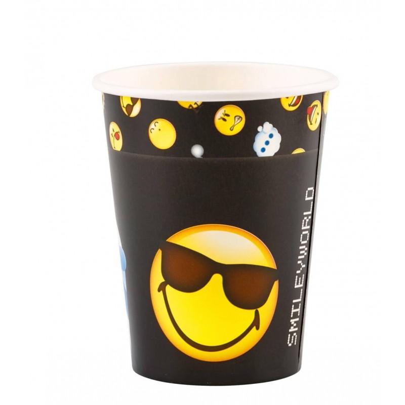 8 gobelets en carton Smiley