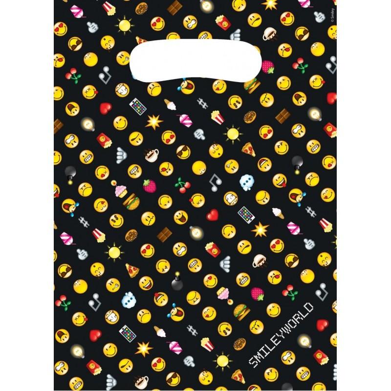 8 sacs cadeaux Emoji Smiley