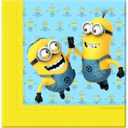 20 serviettes en papier Minions