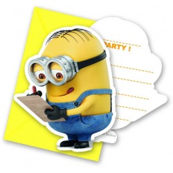 6 cartons d'invitations Minions