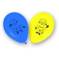 8 ballons Minions