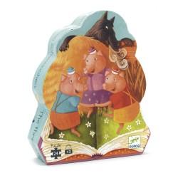 Puzzle Djeco - Les trois Petits cochons 24 Pièces