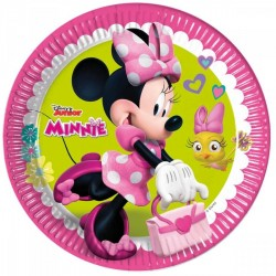 8 assiettes en carton Minnie