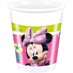 8 gobelets en plastique Minnie