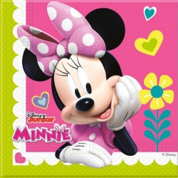 20 serviettes en papier Minnie