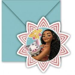 6 cartons d'invitation Vaiana