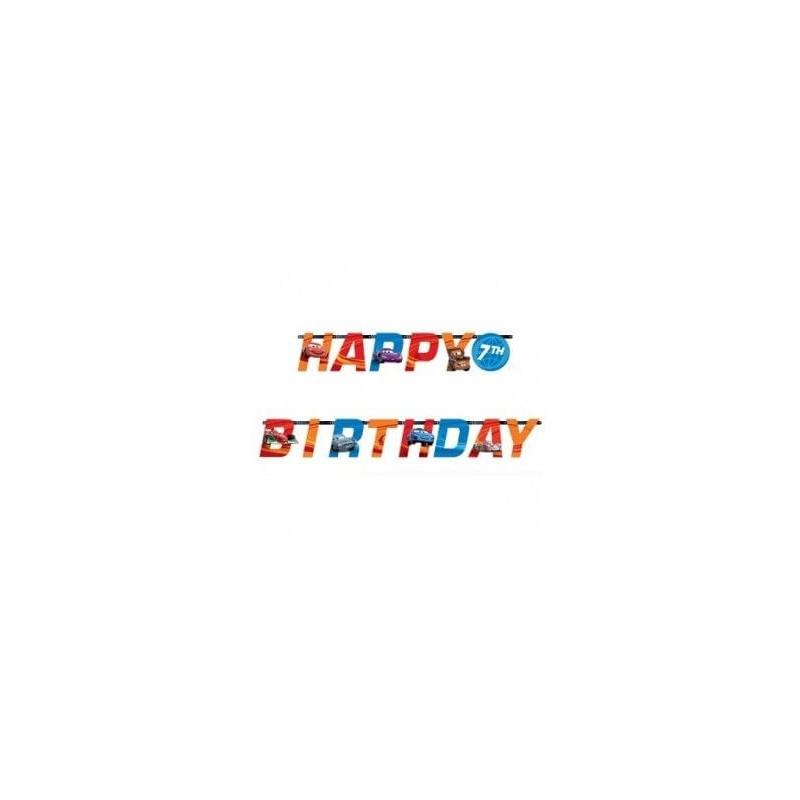 Guirlande Happy Birthday Cars - Deco anniversaire