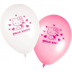 8 ballons gonflables Hello Kitty