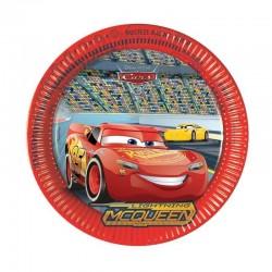 8 assiettes anniversaire Cars 3