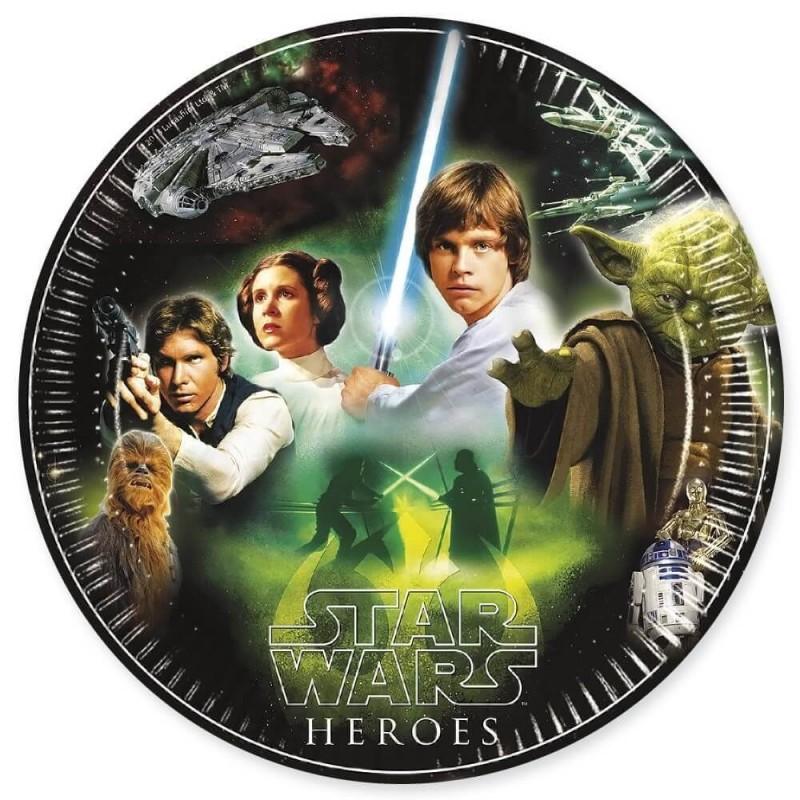 8 assiettes en carton Star Wars la Guerre des étoiles