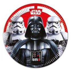 8 assiettes Star Wars 23 cm - la bataille finale