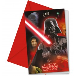 6 Invitations Star Wars