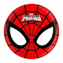 8 Assiettes carton Spiderman Power