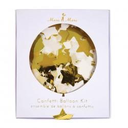 Kit de 8 ballons confettis dorés - Meri Meri