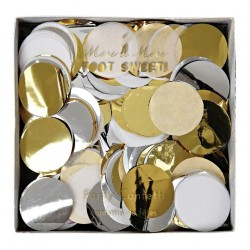 Confetti papier de soie métalliques Meri Meri