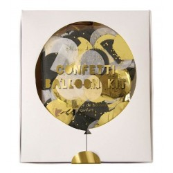 Kit de ballons confettis brillants