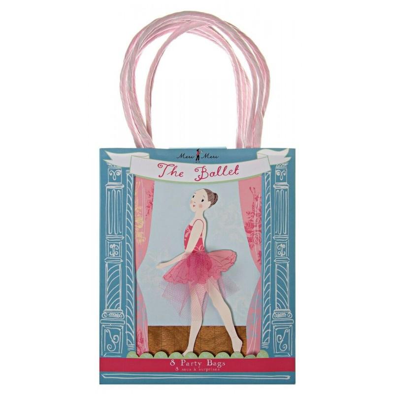 8 sacs cadeaux danseuse étoile - Meri Meri