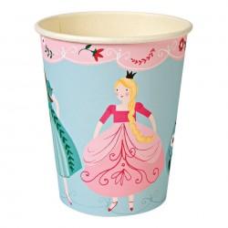 12 Gobelets en carton Princesse - Meri Meri