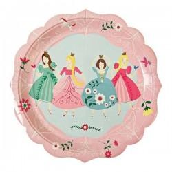 12 grandes assiettes princesse meri meri