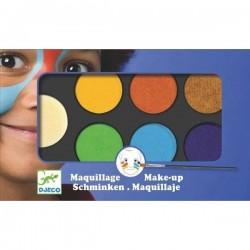 maquillage Djeco palette et 6 couleurs nature