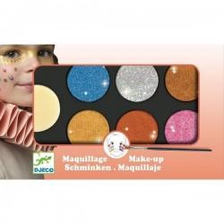 Maquillage Djeco - Palette 6 couleurs effet métal