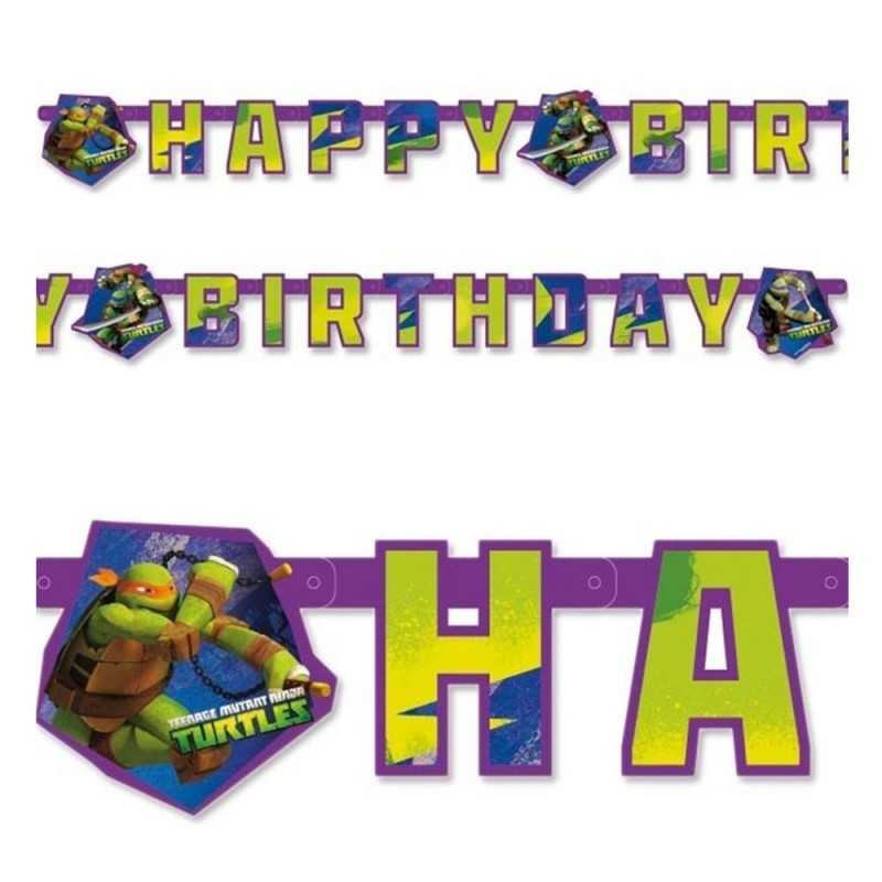 Guirlande anniversaire Tortues Ninja
