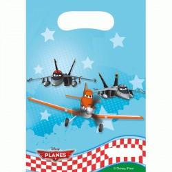 6 pochettes cadeaux Planes