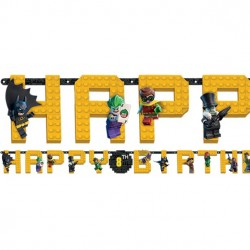 Guirlande Happy Birthday Lego Batman - 1,8 m