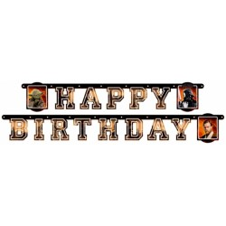 "Guirlande lettres ""Happy Birthday"" Star Wars"