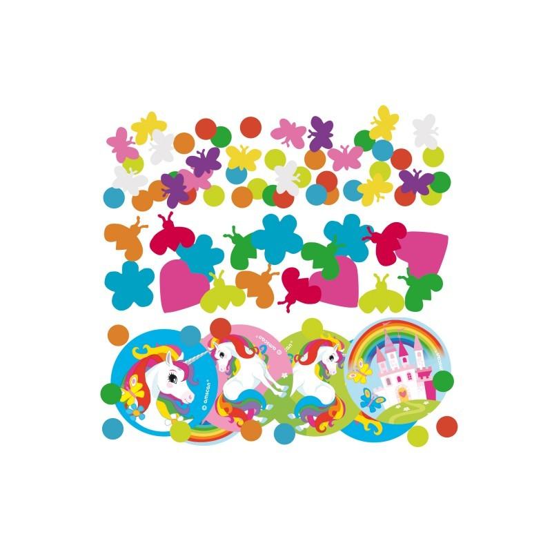 Decoration anniversaire Licorne - confetti licorne