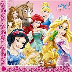 20 Serviettes en papier Princesse Disney