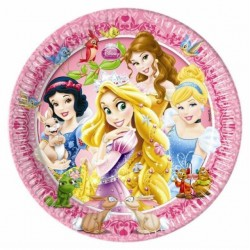 8 Assiettes en carton Princesse Disney