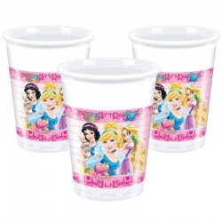8 Gobelets plastique Princesse Disney