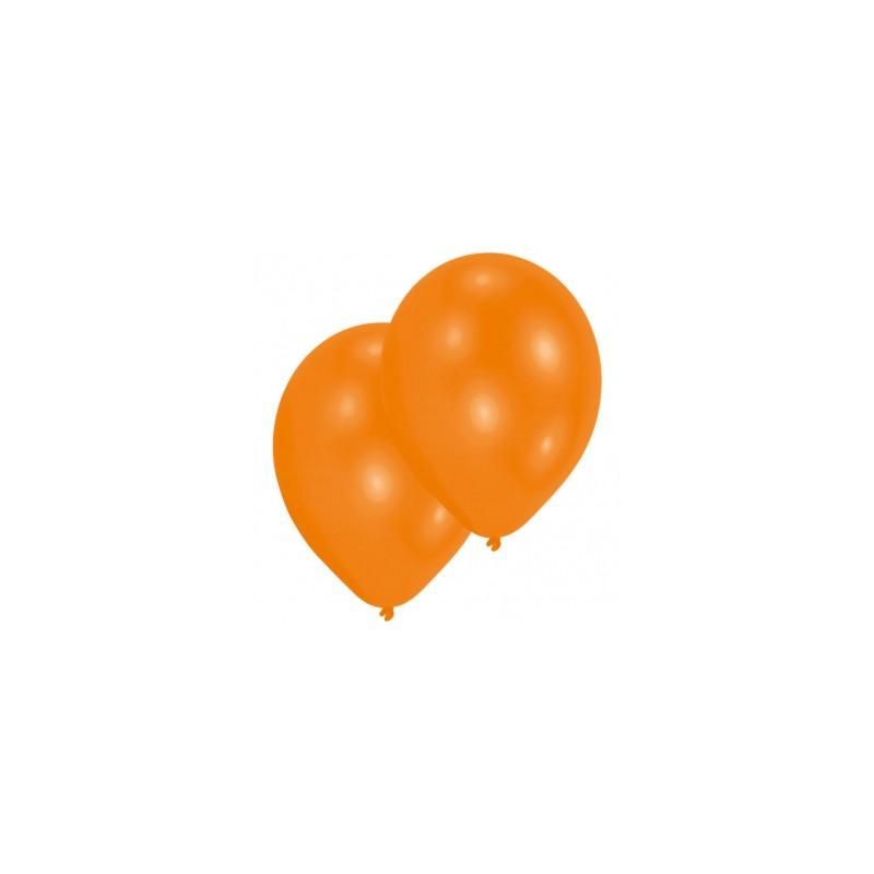 10 Ballons de baudruche orange