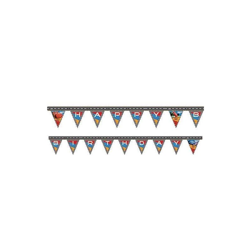 Guirlande de fanions Happy Birthday Disney Cars 220 cm