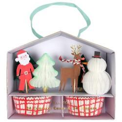 Kit 24 cupcakes Noel et 24 pics