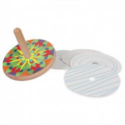 Toupie en bois à colorier