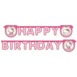 Guirlande Happy Bithday Hello Kitty