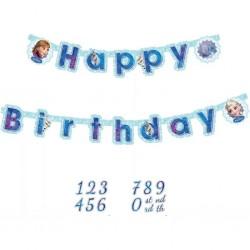Guirlande anniversaire Reine des Neiges