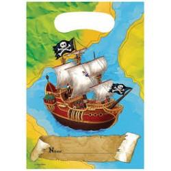 6 pochettes cadeaux Pirate et chasse au trésor