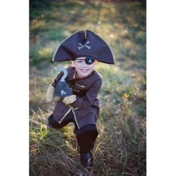 Déguisement Pirate 5-6 ans avec crochet et cache-oeil