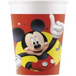 8 Gobelets en carton Mickey