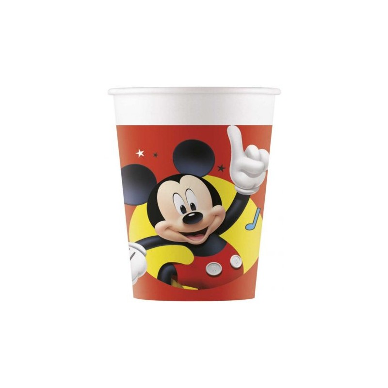 Lot de 8 gobelets carton Mickey